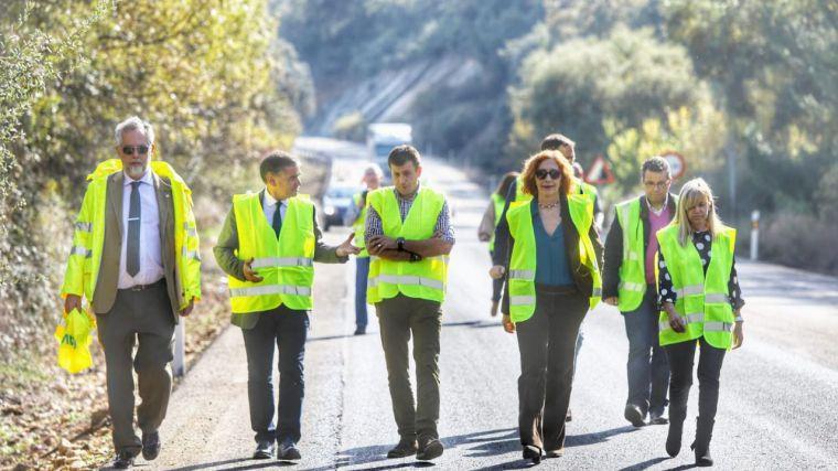 El delegado del Gobierno de España en Castilla-La Mancha visita las obras de emergencia que Fomento realiza en la N-430