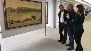 José García Molina visita la colección de arte contemporáneo más importante en la ciudad de Valdepeñas