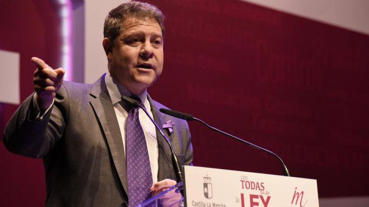 """García-Page apela al consenso entre todos los partidos para trabajar por la igualdad y """"penalizar y perseguir a quienes difundan valores violentos"""""""
