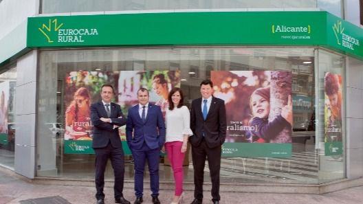 La expansión de Eurocaja Rural en Levante avanza a un ritmo lento
