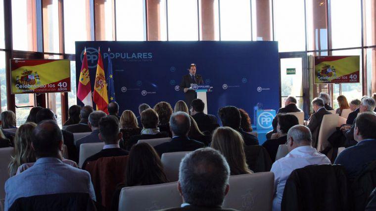 Núñez resalta la importancia de defender la unidad de España y la Constitución, que recoge nuestros derechos y libertades