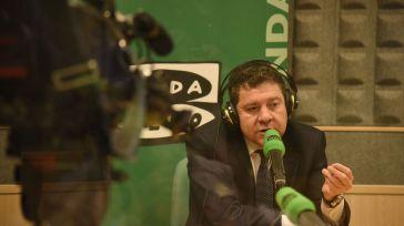 García-Page, durante la entrevista para Onda Cero en la que hizo las declaraciones sobre los partidos independentistas.