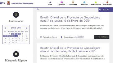 El número de usuarios del nuevo Boletín Oficial de la Provincia de Guadalajara aumenta un 25%