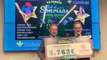 Globalcaja entrega a Cáritas Diocesana de Cuenca la recaudación de su espectáculo solidario