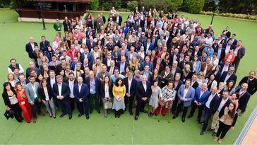 El comité autonómico de Ciudadanos en Castilla-La Mancha, con Orlena de Miguel a la cabeza.