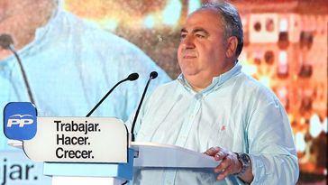 Vicente Tirado durante un acto en Talavera.