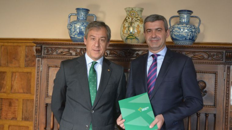 El presidente de la Diputación de Toledo felicita a Eurocaja Rural Castilla-La Mancha por los resultados de 2018
