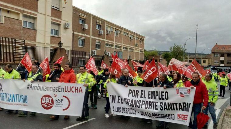 El transporte sanitario de CLM afronta a partir del viernes seis jornadas de huelgas