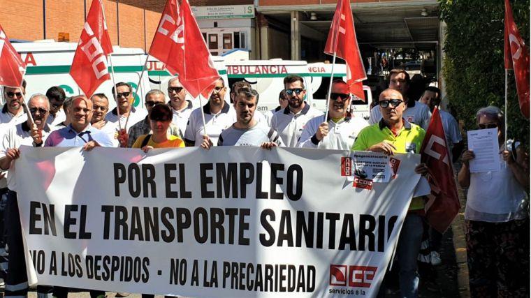 Primera jornada de paros en el Transporte Sanitario de CLM