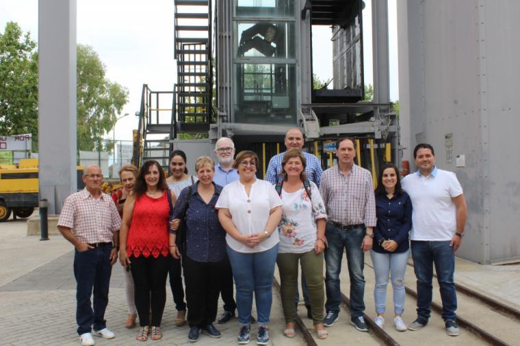 Visita de la delegada del gobierno regional a Almadén